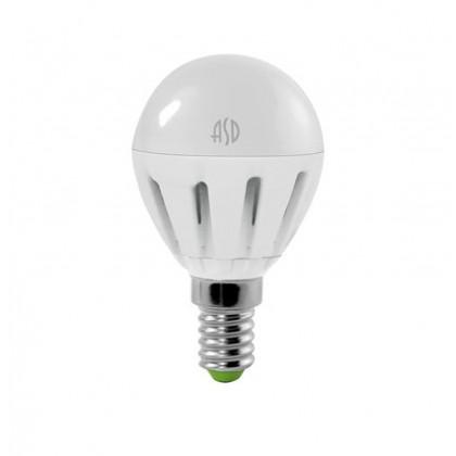 Лампа светодиодная LED-P45 5Вт Е14/Е27 3000К/4000К 400Лм ASD