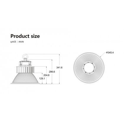 Промышленный купольный светильник Lumartech Power Pro 60W