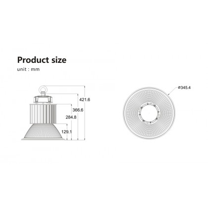 Промышленный купольный светильник Lumartech Power Pro 100W
