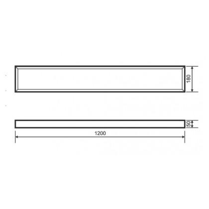 Аварийный светодиодный светильник Varton IP54 1195х180х55мм 36Вт 6500К