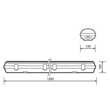 Аварийный LED светильник Varton IP65 1300х135х100мм 54Вт 6500К