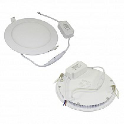 Светильник 12W встраиваемый круглый белый, 170 (155) мм (ультратонкий) DEKO