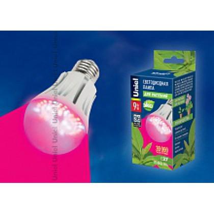Лампа сд для растений LED-A60-9W/SP/E27/CL ALM01WH Uniel