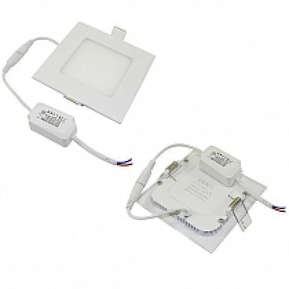 Светильник 6W встраиваемый квадратный белый, 120 (105) мм (ультратонкий) DEKO