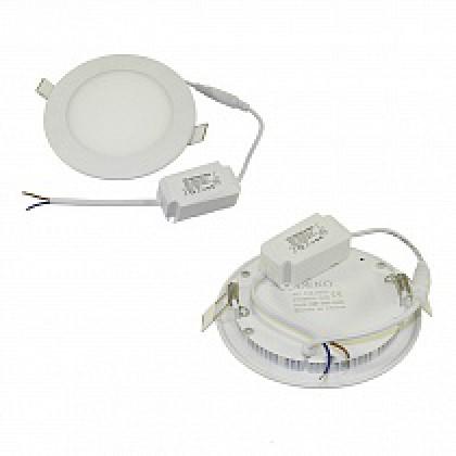 Светильник 9W встраиваемый круглый белый, 5500-6000К, 145 (130) мм (ультратонкий) DEKO