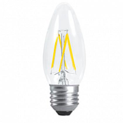 Лампа светодиодная LED-СВЕЧА-PREMIUM 5,0Вт 220В Е27 3000К 450Лм прозрачная ASD
