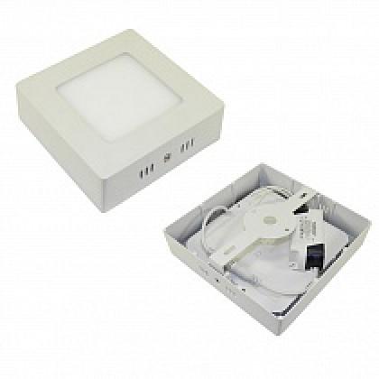 Светильник 6W накладной квадратный белый, 120 мм DEKO
