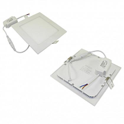 Светильник 12W встраиваемый квадратный белый, 172 (155) мм (ультратонкий) DEKO