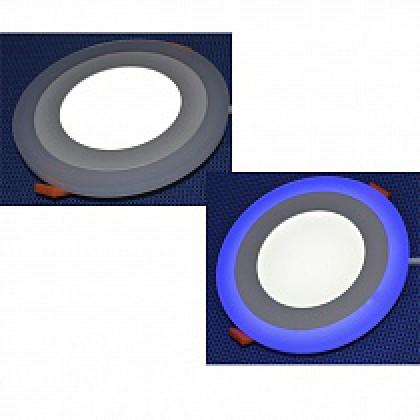 Светильник с декоративной подсветкой 12+4W, 5500-6000К, синий, 190 (160) мм DEKO