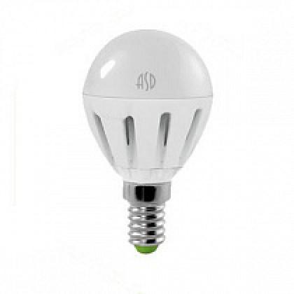Лампа светодиодная LED-ШАР-standard 7,5Вт 160-260В Е14 4000К 600Лм ASD