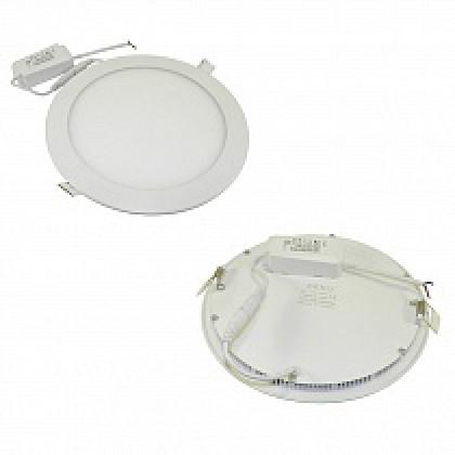 Светильник 18W встраиваемый круглый белый, 225 (205) мм (ультратонкий) DEKO