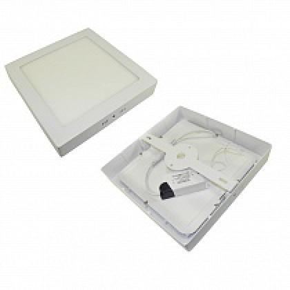 Светильник 18W накладной квадратный белый, 225 мм DEKO