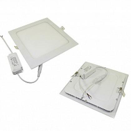 Светильник 18W встраиваемый квадратный белый, 225 (205) мм (ультратонкий) DEKO