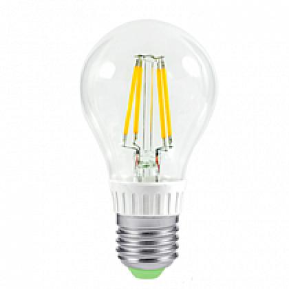 Лампа светодиодная LED-A60-PREMIUM 6Вт 220В Е27 3000К 540Лм прозрачная ASD