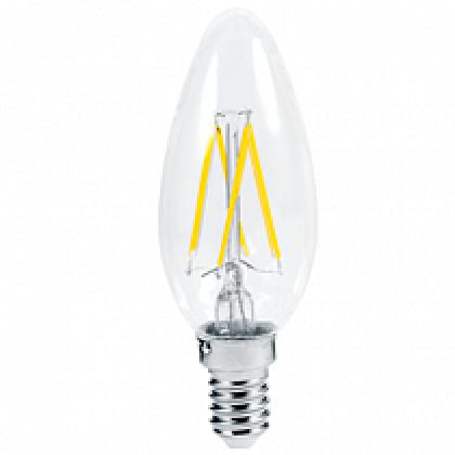Лампа светодиодная LED-СВЕЧА-PREMIUM 5,0Вт 220В Е14 3000К 450Лм прозрачная ASD
