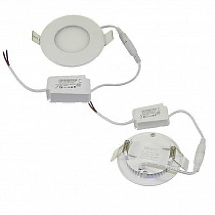Светильник 3W встраиваемый круглый белый, 85 (70) мм (ультратонкий) DEKO