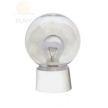 Домовой светильник ШАР ЖКХ-04 с датчиком прозрачный