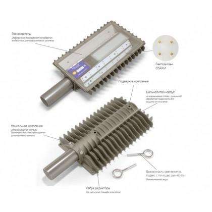 Взрывозащищённый светодиодный уличный светильник AT-ДКУ-11/50-220VAC-IP67-EX серия Street