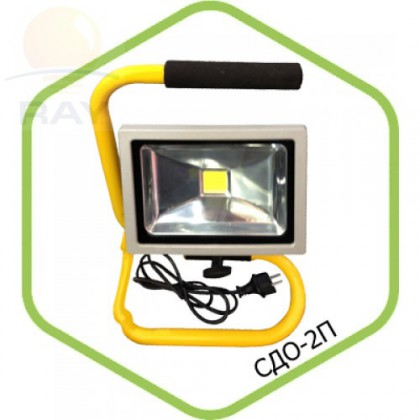 Прожектор светодиодный СДО-2П-20 20Вт 220-240В 6500К 1600Лм IP65 переносной ASD