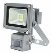 Прожектор светодиодный СДО-2Д-10 10Вт 160-260В 6500К 800Лм с датчиком движения IP65 ASD